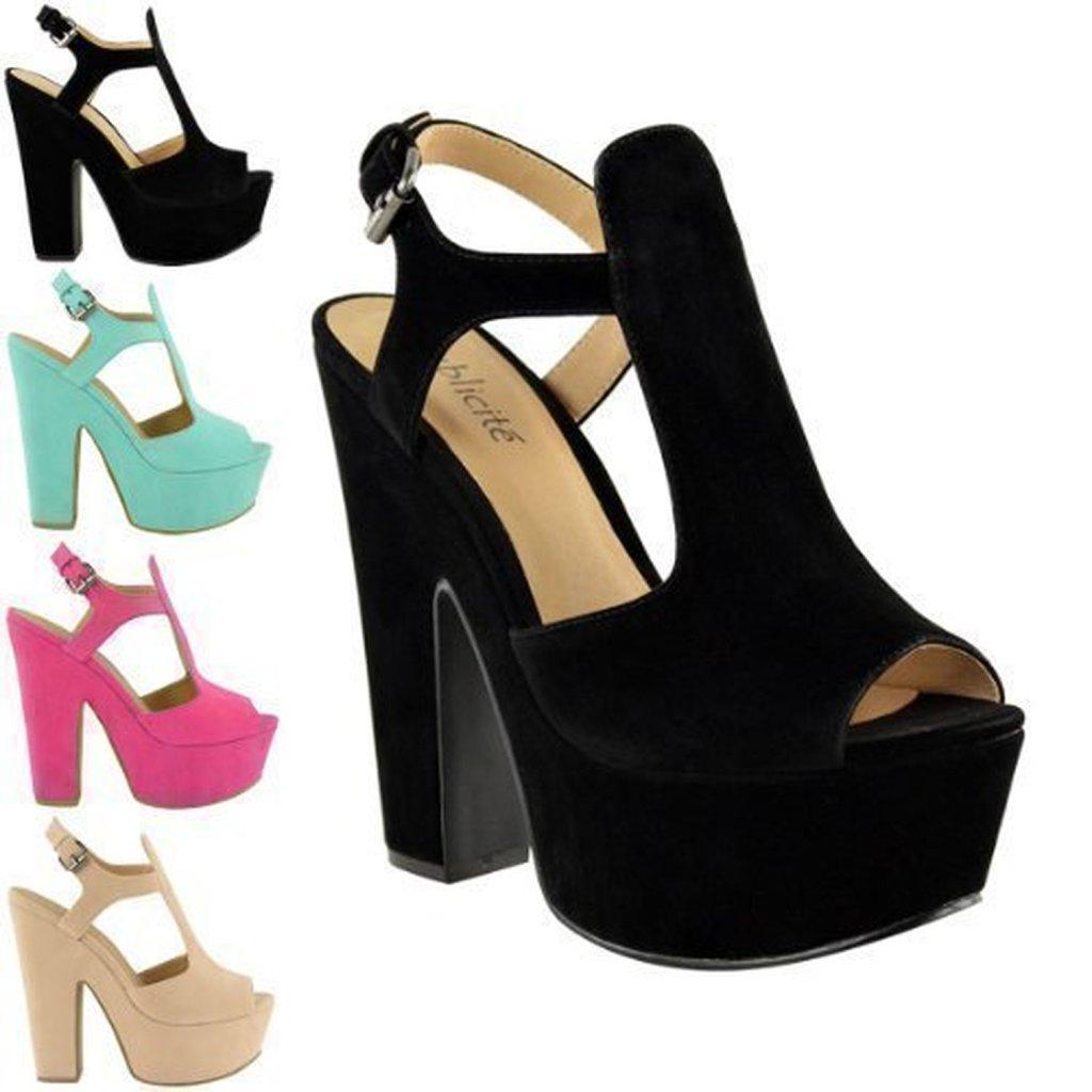 Escarpin, chaussure femme compensée talon haut ...