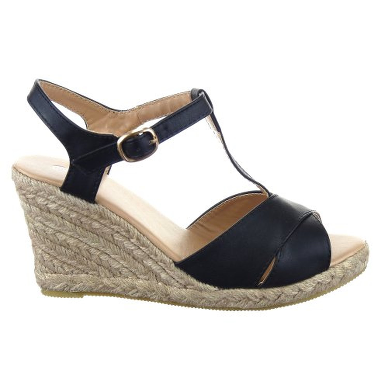 sopily chaussure mode espadrille compens e salom s cheville femmes talon compens plateforme 9. Black Bedroom Furniture Sets. Home Design Ideas