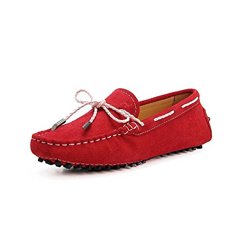 shenda classic mocassins femme daim loafers multicolore chaussures bateau de ville. Black Bedroom Furniture Sets. Home Design Ideas