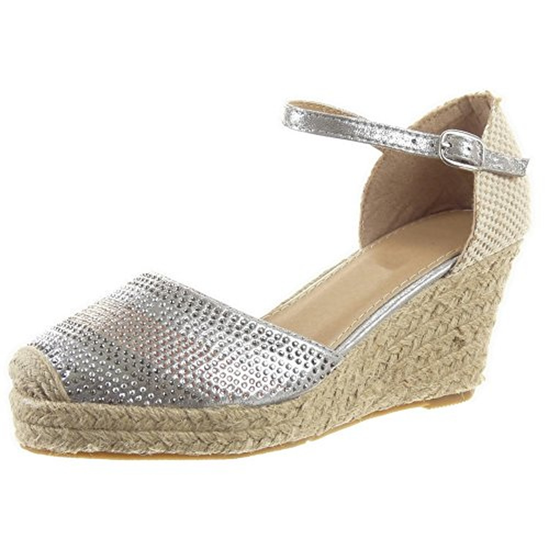 sopily chaussure mode espadrille sandale plateforme cheville femmes strass diamant corde talon. Black Bedroom Furniture Sets. Home Design Ideas