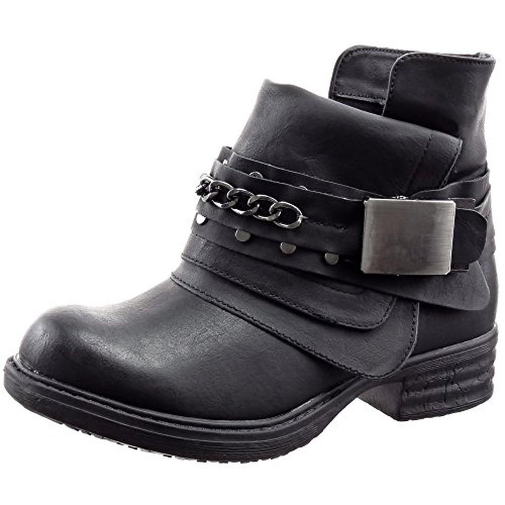 sopily chaussure mode bottine cavalier motard cheville femmes cha nes boucle talon bloc 3 cm. Black Bedroom Furniture Sets. Home Design Ideas