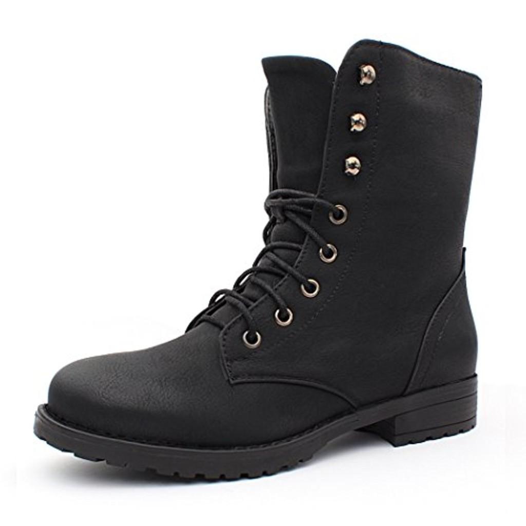 Best-Boots - Bottines À Lacets Femme - Boots 2016