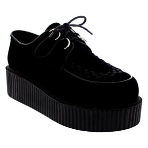Femmes Double Plate-Forme Rétro Punk Festival Rock Creepers Chaussures 2016