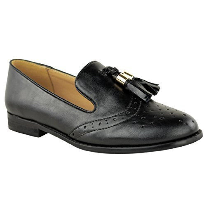 femmes vintage mocassins glands plat cole bureau chaussures plates chaussures richelieu. Black Bedroom Furniture Sets. Home Design Ideas