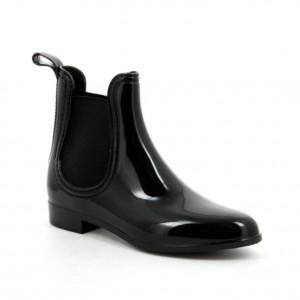 Ideal Shoes – Chaussure femme Bottine de pluie SHERRY 2016