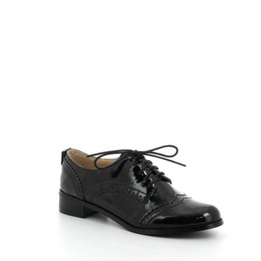 Ideal Shoes - Chaussures Derbies pour femme à talonnettes Mona 2016
