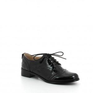 Ideal Shoes – Chaussures Derbies pour femme à talonnettes Mona 2016