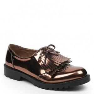 Ideal Shoes – Derbies à franges et semelle crantée Pascalina 2016