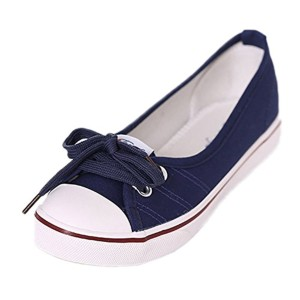 Minetom Femmes Mode Toile Chaussures Bout Rond Talon Plat Espadrilles Loisir Flâneur Chaussures 2016