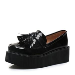 RoseG Femmes Vogue Frange Plate plateforme Mocassins Loafers Chaussures 2016