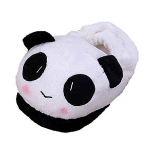 SODIAL(R)Femme Chaussures chaussons thermiques hiver chaud doux en peluche menagers en motif de panda 2016