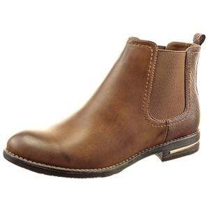 Sopily – Chaussure Mode Bottine Chelsea Boots Montante femmes Peau de serpent Métallique Talon bloc 2.5 CM – Camel 2016