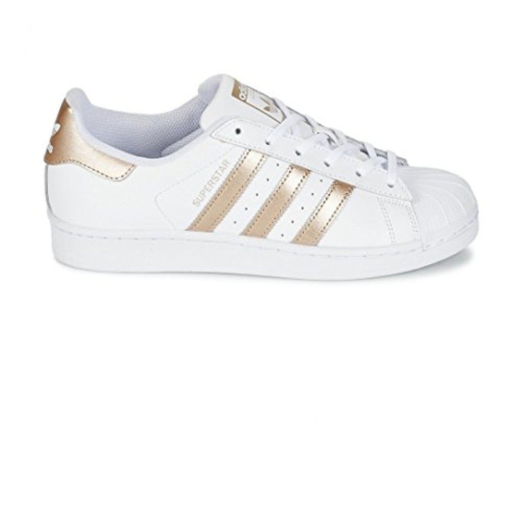 adidas Superstar W, Sneakers Basses Femme 2018