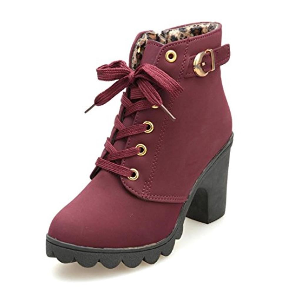 bottes femme amlaiworld bottines chaussures chaussure de plate forme de boucles 2018 soldes. Black Bedroom Furniture Sets. Home Design Ideas