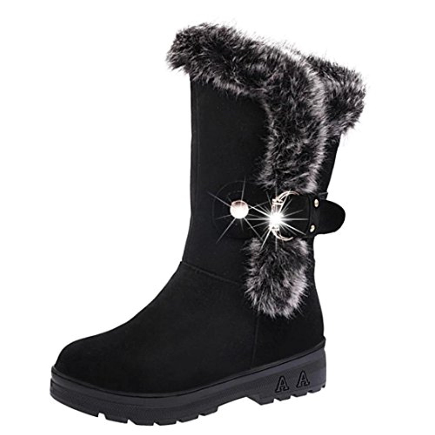 bottes de neige femmes chaussures bottes cuissardes d 39 hiver bottes fourr es femmes bottes slip. Black Bedroom Furniture Sets. Home Design Ideas