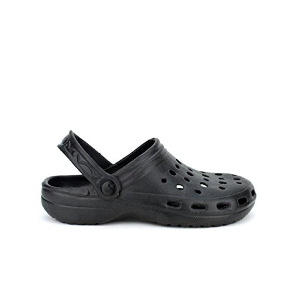 cendriyon sabots plastiques noires pops chaussures femme. Black Bedroom Furniture Sets. Home Design Ideas