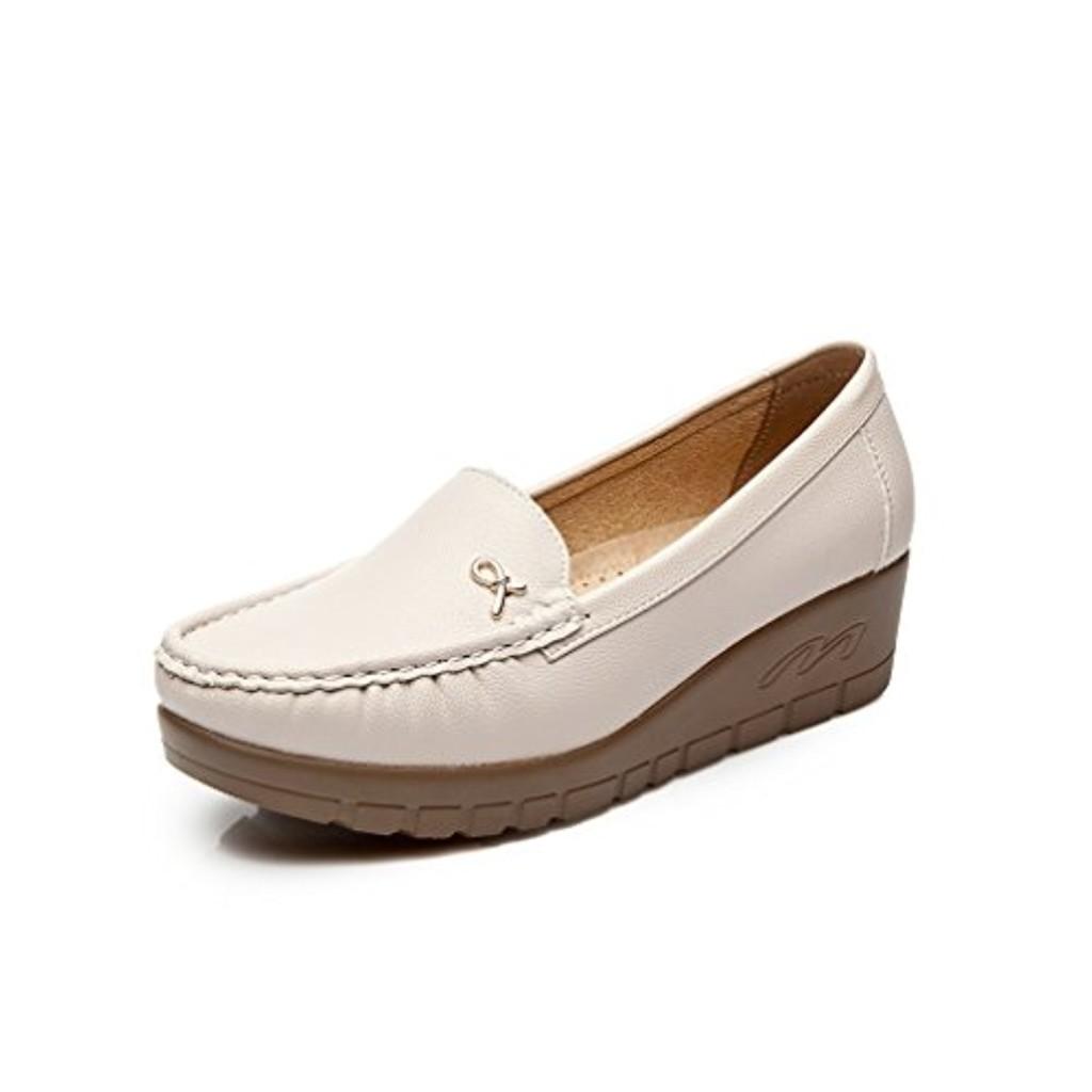 cestfini femme lisse cuir d contract chaussures talon bas simples chaussures l gantes et