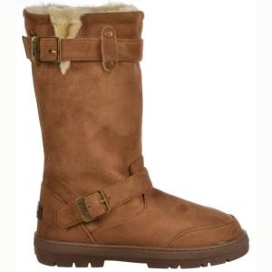 Femmes de dames Ella Biker fourrure doublé plat d'hiver de neige Boot – Chestnut Brown, noir, brun foncé, gris 2018