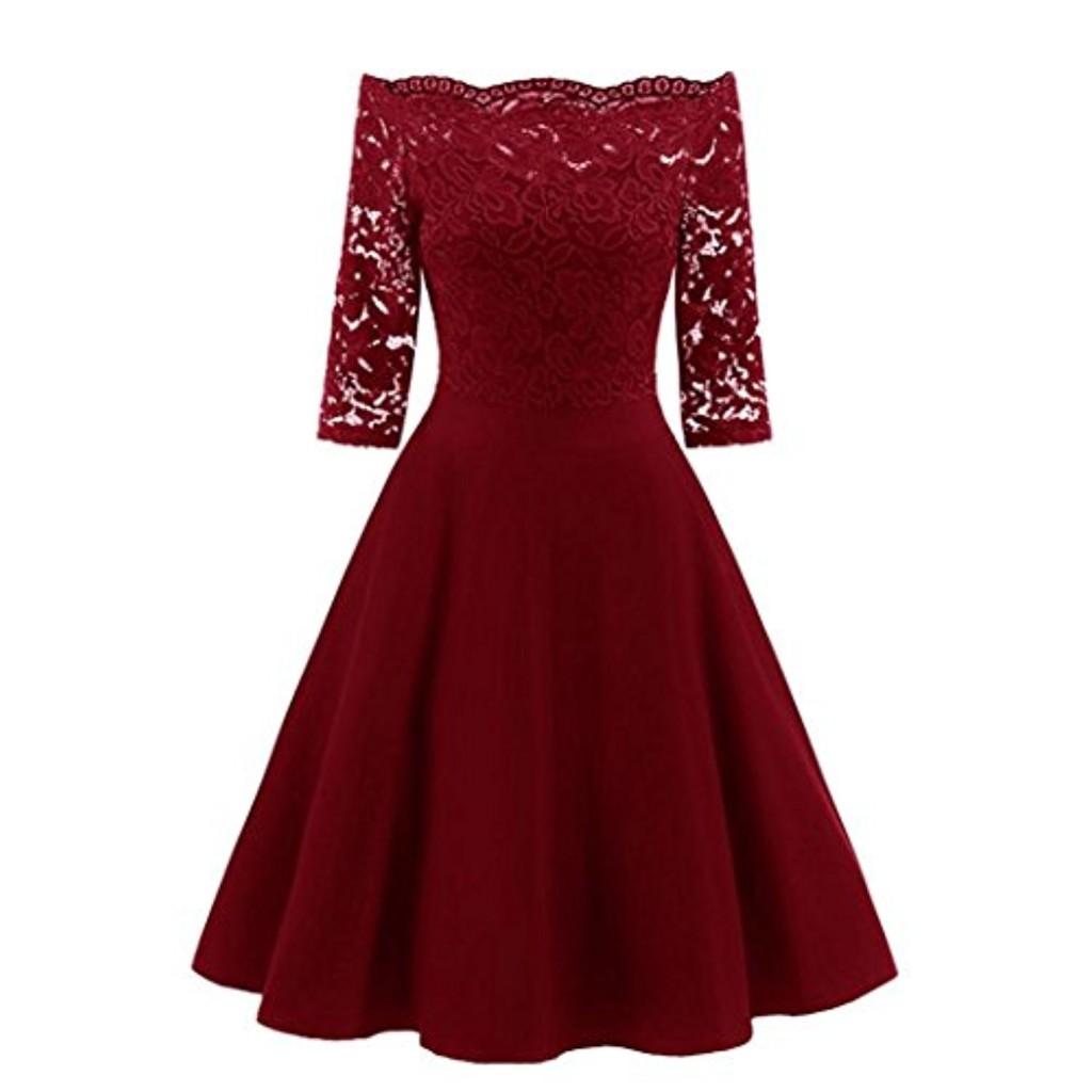 robe dentelle femme amlaiworld robe dentelle robe d 39 paule off robe de soir e cocktail robe. Black Bedroom Furniture Sets. Home Design Ideas