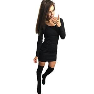 Robe Femme, Amlaiworld Mode sexy robe pleine Robe Slim manches longues 2018