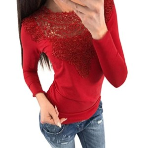 ❤️Blouse Femme, Amlaiworld Chemisier Dentelle Sexy T-Shirt Casual Manches Longues Tops Couture rayées Pull Capuche 2018