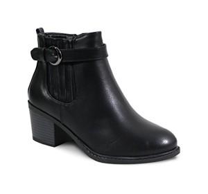 By Shoes Bottine Talon Carré Style Cuir – Femme 2018