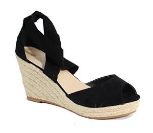 By Shoes – Espadrille Compensée Style Daim – Femme 2018