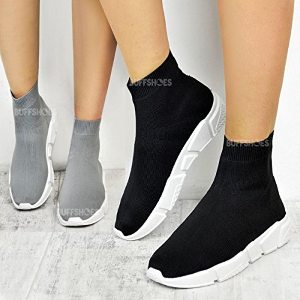 chaussures de sport running enfiler empeigne en tricot. Black Bedroom Furniture Sets. Home Design Ideas