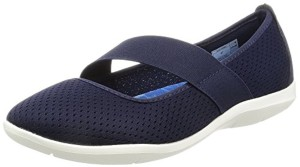 Crocs Swiftwater Flat W Navy/whi, Ballerines femme 2018