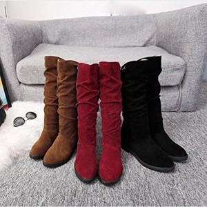 Femmes Bottes Mode Daim douce dame, QinMM d'hiver d'automne simple confortable chaussure plat 2018
