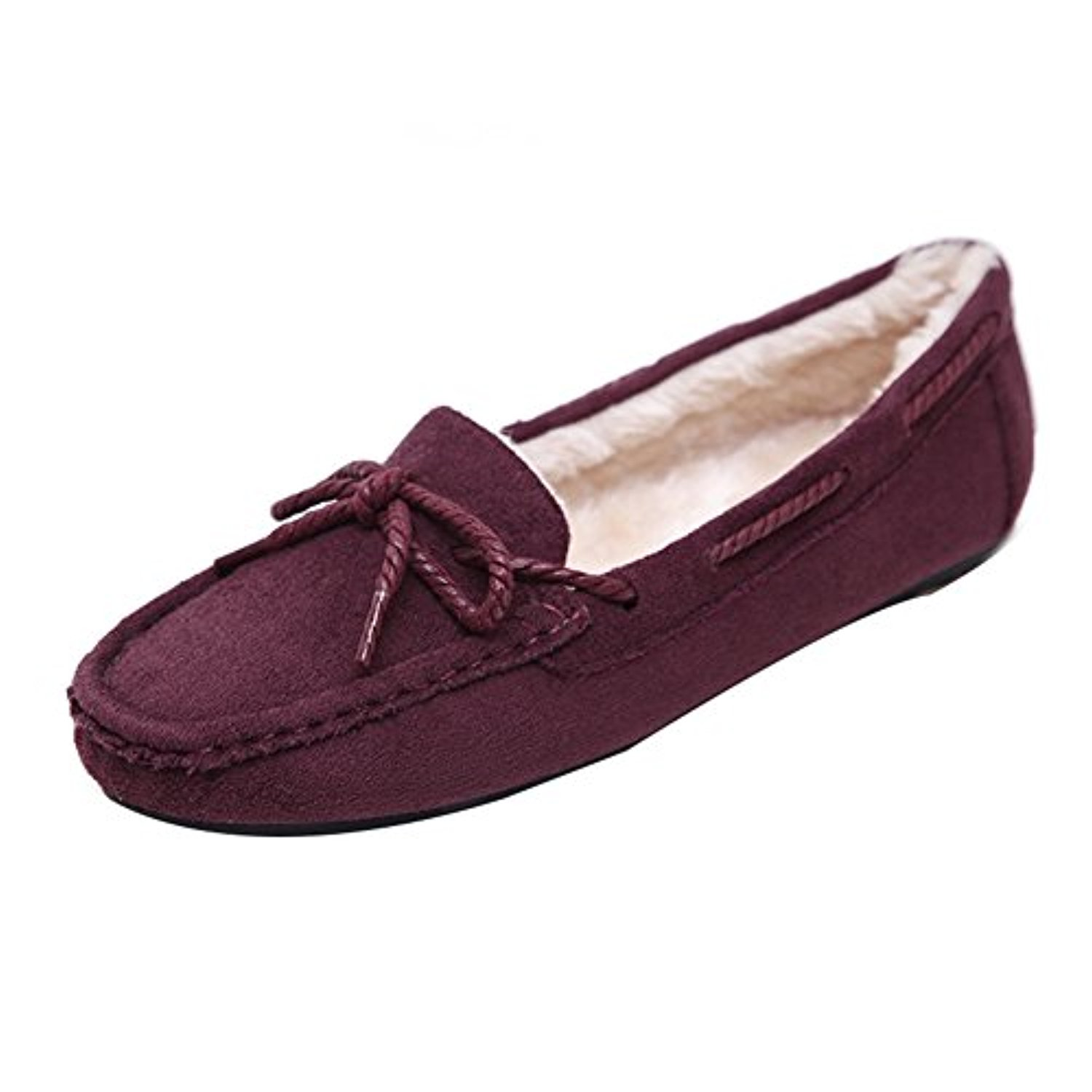 Youjia femmes cozy suede synth tique mocassins loafer for Chausson de piscine pour verrue