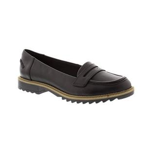 Clarks Ville Femme Chaussures Griffin Milly en Cuir Noir 2018