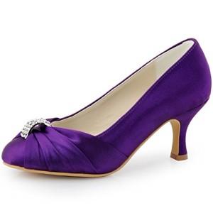 ElegantPark HC1526 Escarpins Femme satin Chaussures de mariee mariage bal 2018