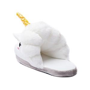 iBaste Peluche Licorne Chaussons Pantoufles Hiver Coton Chaussons Chaussures, pointure européenne: 36-41, cadeaux festival Idol Nouveauté Noël 2018
