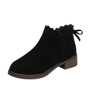 Bottines Plates en Daim,OverDose Bottes Femme Hiver Grande Taille Chaussures Boots 2018