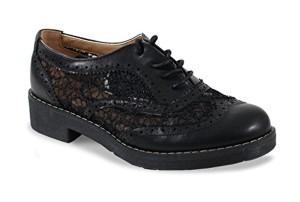 By Shoes Derbies avec Dentelle Style Cuir – Femme 2018