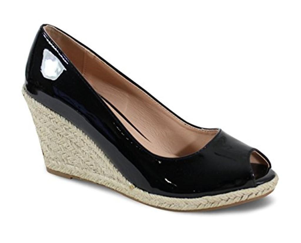 By Shoes Espadrille Compensée Style Cuir - Femme 2018