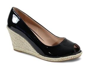 By Shoes Espadrille Compensée Style Cuir – Femme 2018