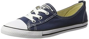 Converse Ctas Ballet Lace Navy-Women, Baskets Slip-On Femme, Weiß, 37,5 EU 2018