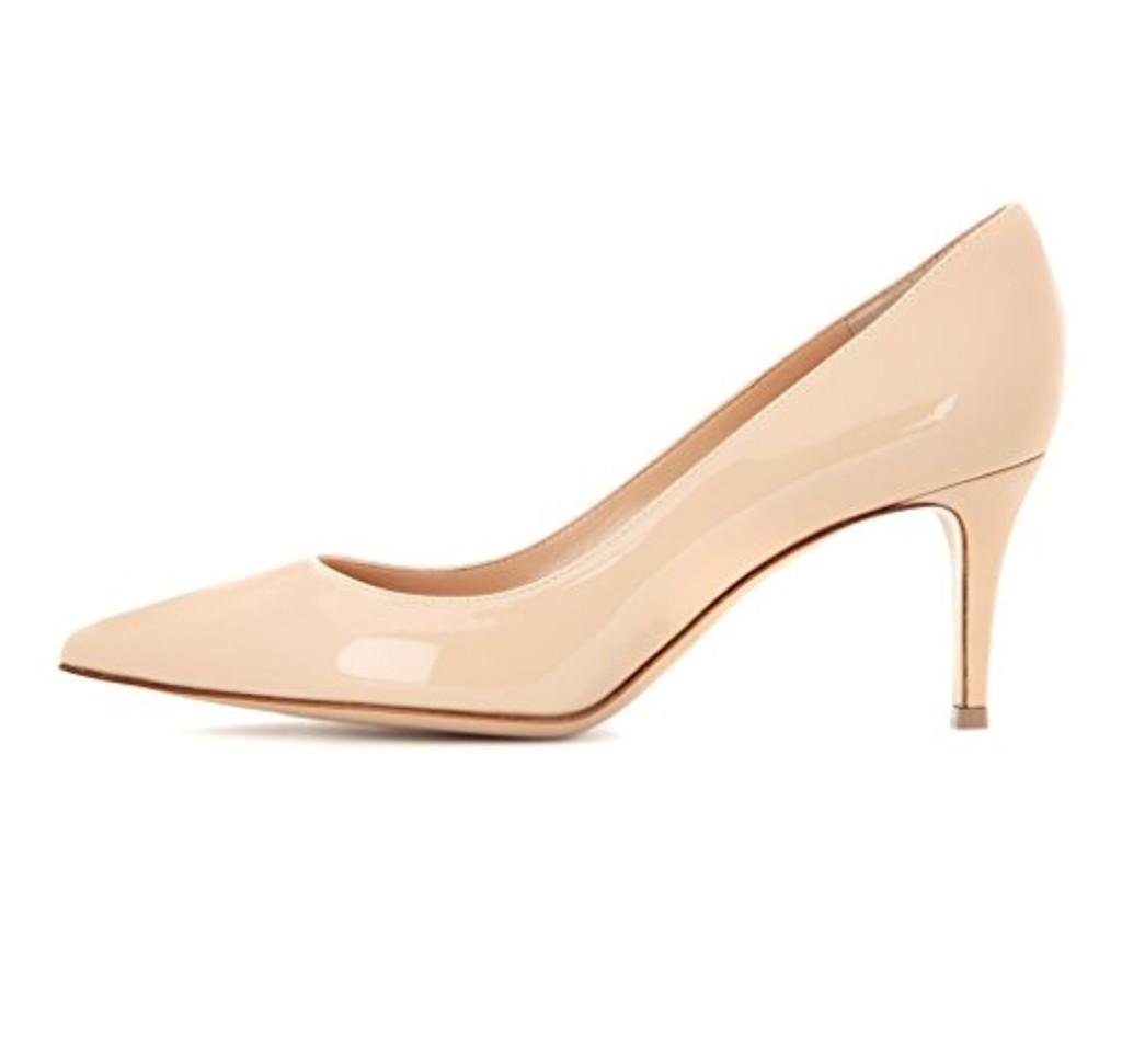 Chaussures à kitten heel à bout pointu femme MCocrJ