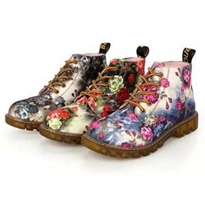 ESAILQ Botte Femme Hiver / Martin Cheville Bottes Cuir / Bottines Plates Fourrées / Boots Chaussures Lacets / Classiques Chaudes Impermeables/Chaussures Classiques/Bottines À Lacets 2018