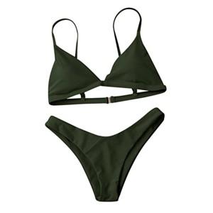 Maillots de bain,Honestyi Femmes Bikini Set [2 Pièces] Soutien-gorge rembourré Push-Up Maillot de bain de plage (armée verte, S) 2018