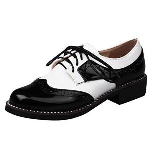 MissSaSa Femmes Derbies Chaussures Loisir Talons Petit 2018