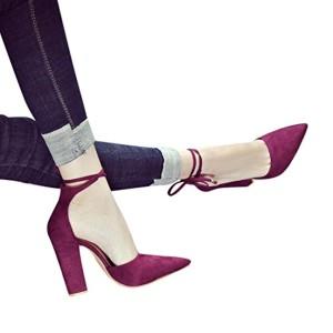 OverDose Chaussures à Bout Pointu Talons Hauts Carrés, Sexy Sandales Femme Escarpins High Heels 2018