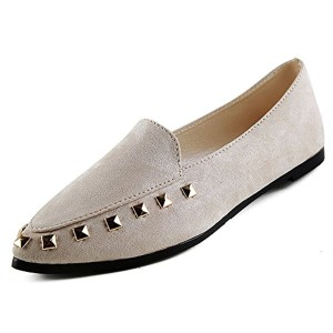 OverDose Mocassins Plats en Daim, Femme Chaussures Pointure Large Ballerines Casual Soft Slip-On Flat 2018