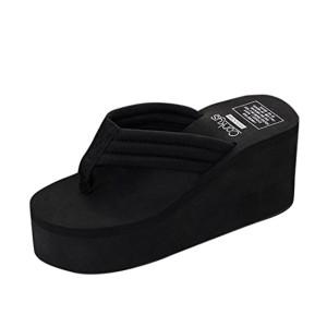 Sandales de Femme, Yesmile Pantoufles à Talons Hauts Compensées Femmes Pantoufles de Fond Épais Chaussures Printemps Et Été Sexy Chaussures Compensées Fashion 2018