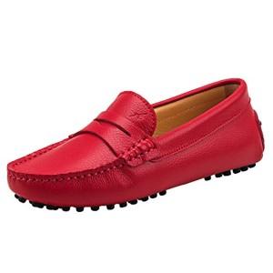 Shenduo Classic, Mocassins femme cuir – Loafers multicolore – Chaussures bateau & de ville confort D7052 2018