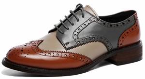 SimpleC Femme Classique Brogue Pointe Toe Formelle Cuir Style Derbies Chaussures 2018
