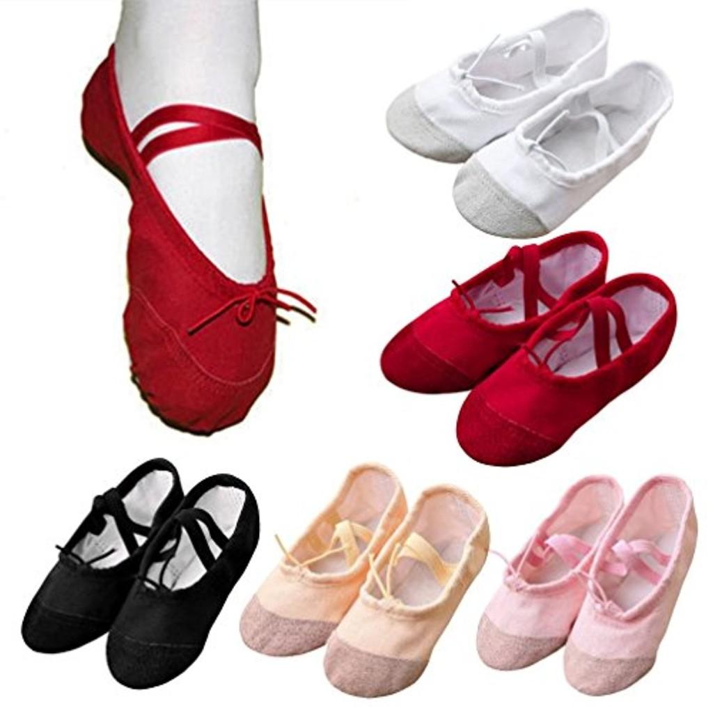 Toile Ballet Pointe Danse Chaussures Fitness, QinMM Lacet Gymnastique Pantoufles pour Enfants 2018