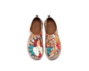 UIN Fille monacane Chaussures sportives de toiles peintes multicolore pour femme 2018